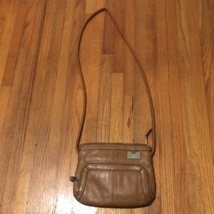 Tignanello brown leather messenger bag